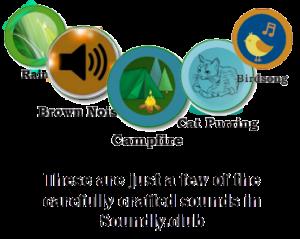 Enhance Sleep, Study, Focus & Productivity - Rain, Brown Noise, Campfire, Cat Purring, Birdsong buttons